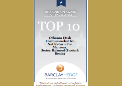Top 10 Balanced Funds – Barclays Hedge Award